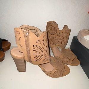 Francesca's tan heels